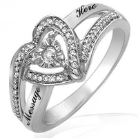 Kay - 1/6 Ct. tw Diamond Heart Ring Sterling Silver