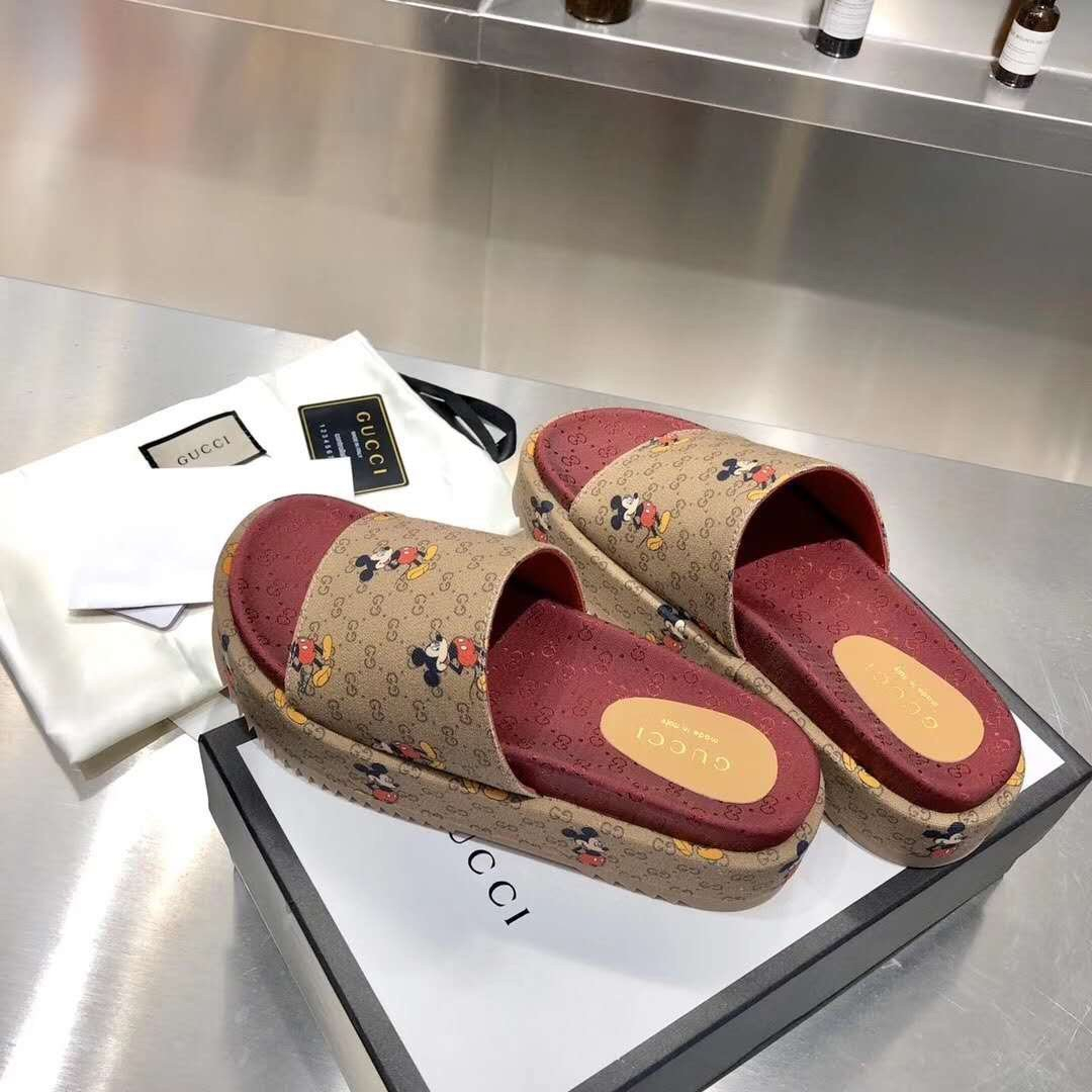 Image of Gucci/Summer  Women Casual Shoes Boots fashionable casual leather Women Heels Sandal Shoes