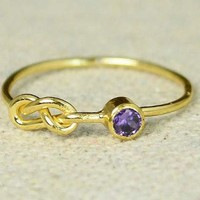 Gold Filled Amethyst Infinity Ring