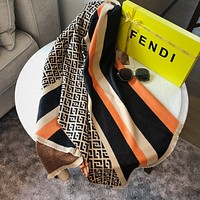 Fendi winter hot cashmere double-sided stitching color FF letter jacquard bib shawl fashionable men and women scarves
