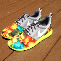 Custom Palm Trees and Hibiscus Roshe   ( FAST SHIPPING )