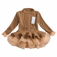 "The ""Lana"" Sweater Tutu Dress in Brown"