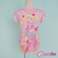 [Princess-misery Design] Sailor Moon With Donut In Mouth T-shirt SP151666 Pre-sale from SpreePicky