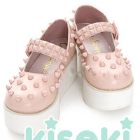 Creepy Cute, Kawaii Studded Flatform shoes - Fairy Kei, Sweet Lolita, Harajuku - FREE SHIPPING from Kiseki
