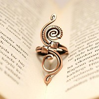 Handmade Wire Wrapped Adjustable Boho Ring