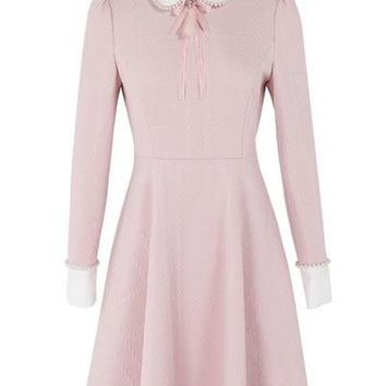 Pearl Dolly Collar A-Line Dress