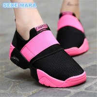 Men/Women's Air Cushioned Stringless Breathable Tennis Shoes