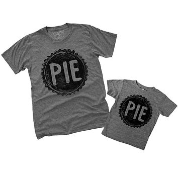 Father Daughter, Father Son Matching PIE T Shirts