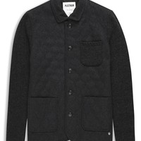 Plectrum Knitted Jacket With Melton Quilted Front   Jackets   Ben Sherman