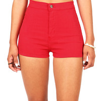 Daredevil High Waist Shorts | Red Shorts at Pink Ice