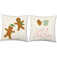 Cozy Christmas Cookies Throw Pillows