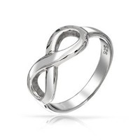 Bling Jewelry Figure 8 Infinity Symbol Ring 925 Sterling: Jewelry: Amazon.com