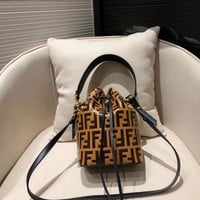 FENDI Women Fashion Bucket Bag Tote Shoulder Bag