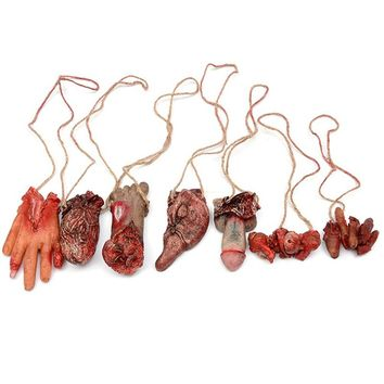 1 Piece!! Broken Finger Hand Foot Blood Horror Halloween Decoration Severed Bloody Limbs Hand Novelty Dead Broken Hand Gadgets