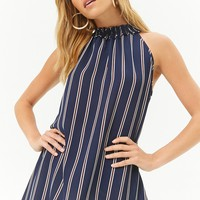 Striped Crepe Top