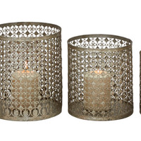 Set of 5 Alluring Unique Metal Candle Holder
