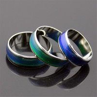 Creative Color Changeable Ring Temperature Emotion Feeling Mood Rings for Women Men Jewelry Best Gifts Fashion Jewelry
