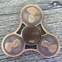 HOT EDC US Dollar Fidget Spinner Coins Hand Spinners Tri-Spinner Stress Spinner Classic Finger Toys For Autism Anti Stress