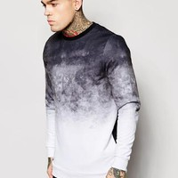 ASOS | ASOS Longline Sweatshirt With Dip Dye Effect at ASOS