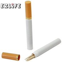 Cigarette Shaped Toothpick Holder Tooth Pick Dispenser Creative Safe Secret Stash Diversion Pill Box Case Home Table Organizer