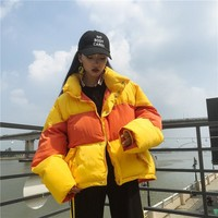 Trendy 2018 Parka Winter Jacket Striped Autumn Coat Puffer Jacket Padded jacket bicolor tansy oversize AT_94_13