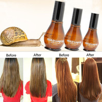100pure snail extracts hair oil Improve frizz smooth