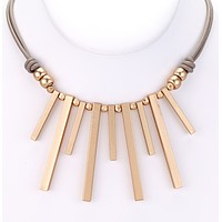 Piano Keys Leather Necklace