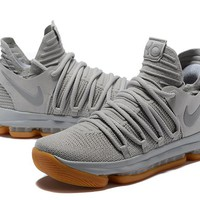 Nike Zoom KD 10 Light Gray Basketball Shoe