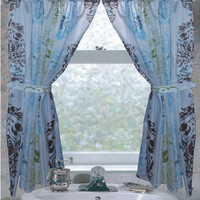 """Olivia"" Fabric Bathroom Window Curtain"