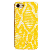 Yellow Snakeskin iPhone Case