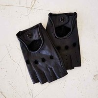 Profound Aesthetic Leather Cutoff Driving Glove-