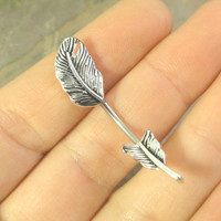Silver Feather Belly Button Jewelry Ring In-N-Out