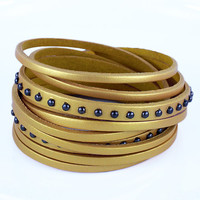 fashion Adjustable Yellow Leather Woven Bracelets mens bracelet cool bracelet jewelry bracelet bangle bracelet  cuff bracelet 2508S