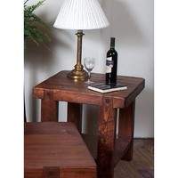 2 Day Designs Reclaimed Russian River End Table | www.hayneedle.com