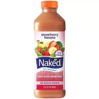 Naked Juice Pure Fruit Strawberry Banana 100% Juice Smoothie, 32 fl oz - Walmart.com