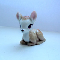 vintage Wade Bambi porcelain figurine wimsi by DollyTopsyVintage