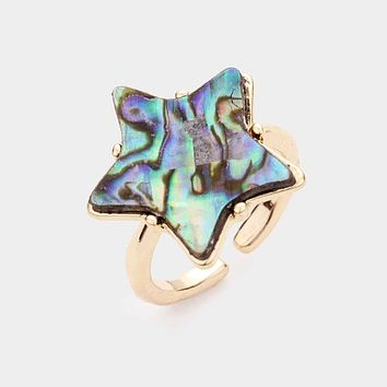 Abalone Star Ring