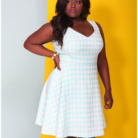 Houndstooth Jacquard Dress by Christian Siriano | Lane Bryant