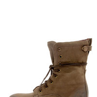 Report Signature Barone Brown Leather Lace-Up Boots