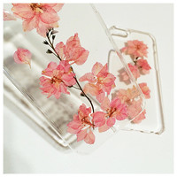 Pressed Flower Phone Case, iPhone 6 Case, iPhone 6 Plus Case, iPhone 5s Case, iPhone 5 Case, iPhone 5c Case, Clear iPhone Case, Real Flower