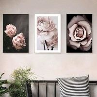 SURE LIFE Romantic Modern Pink Rose Flowers Canvas Paintings Posters Prints Valentine's Gift Wall Art Picture Bedroom Home Decor