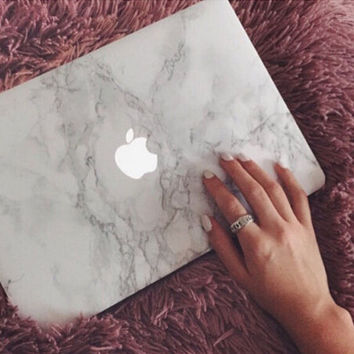 """Marble Case Best Protection Tech Rubberized Hard Shell Matte Nanometer Cover for MacBook Air 11.6""""  , Air 13.3 , Pro 13.3"""" , Pro 15.4"""" , Retina 15.4"""" , Retina 13.3"""" , Retina 12"""""""