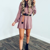 Always There Romper: Dusty Mauve