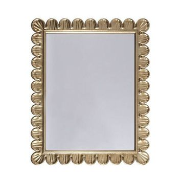 Eliza Gold Scalloped Mirror by Worlds Away