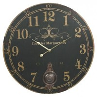 """23"""" Cafe des Marguerites Wall Clock with Pendulum"""