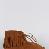 Bohemian Moccasin Espadrille Booties