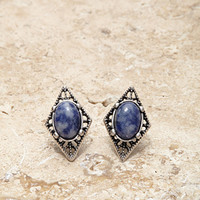 Etched Faux Stone Earrings