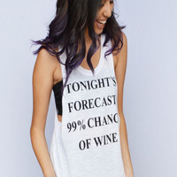 99% Chance Of Wine Graphic Top