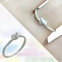 Knot Ring/Binding sturdy ring/925 Sterling silver