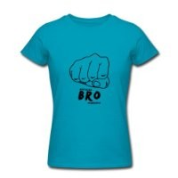 Spreadshirt Women's PewDiePie Official Bro Fist T-Shirt, turquoise, M
